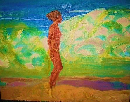 Woman on Baie Rouge by Deborah Gorga