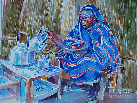 Woman selling tea by Mohamed Fadul
