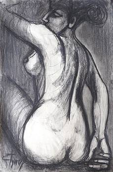Woman Turning Her Back - Female Nude by Carmen Tyrrell
