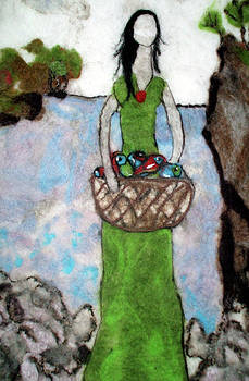 Woman With A Basket Of Fish by Jill Dodd