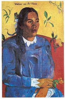 Paul Gauguin - Woman with a Flowers