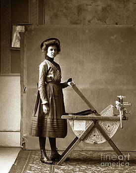 California Views Mr Pat Hathaway Archives - Woman with a Pedigo Perfection Washing Machine circa 1900