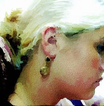 Woman With Antique Earrings by Judy Paleologos
