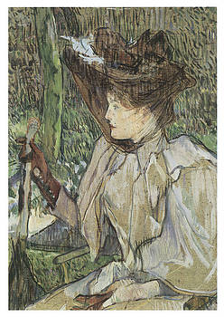 Henri De Toulouse-Lautrec - Woman with Gloves Honorine Platzer