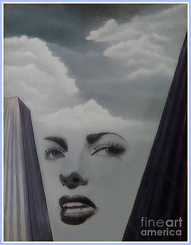 Woman with Head in Clouds by Angie Staft