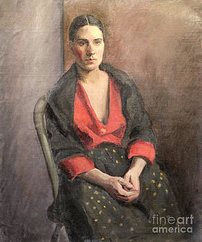 Art By Tolpo Collection - Woman with Read Blouse 1929