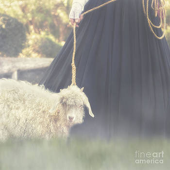 Woman With Sheep by Susan Gary