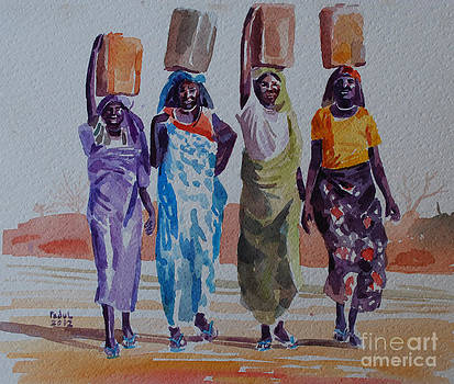 Women and fetching water by Mohamed Fadul