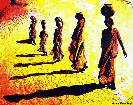Women Searching Water by Anand Karambe