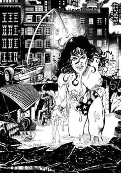 Wonder Woman Battle by Ken Branch
