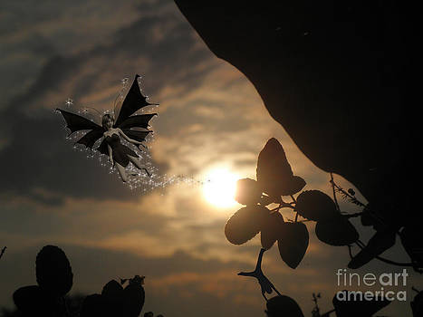 Wonderful sunset fairy by Artist Nandika  Dutt