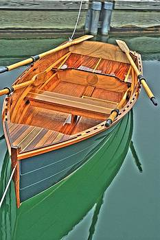 Wood Dingy by Middy  Matthews