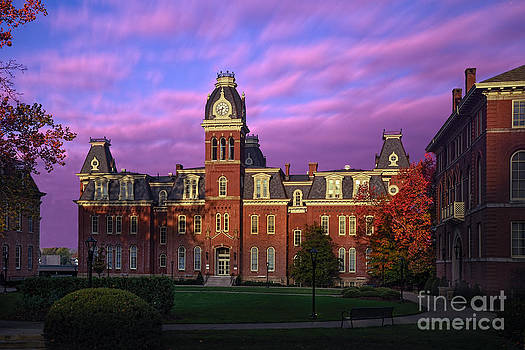 Dan Friend - Woodburn Hall in morning pink sky