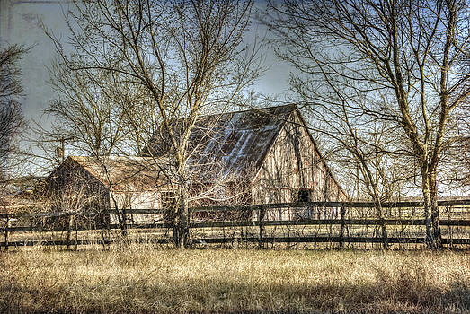 Wooded Windom Barn by Lisa Moore