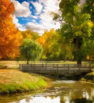 Ray Van Gundy - Wooden Bridge in the Fall