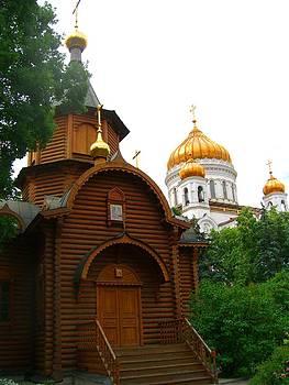 Wooden Church by Julia Ivanovna Willhite