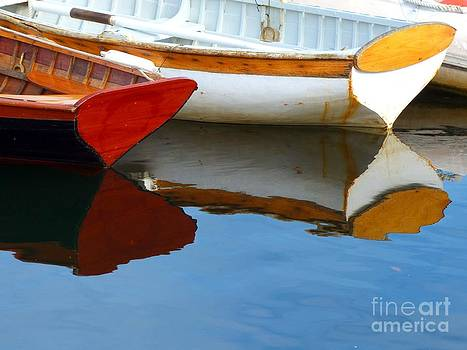 Christine Stack - Wooden Dingies with Reflection in Camden Maine