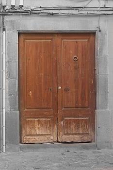 Wooden Door of Vic by Calvin Hanson