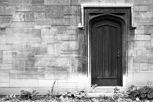 Wooden Door Stone Wall by Sarah Yost
