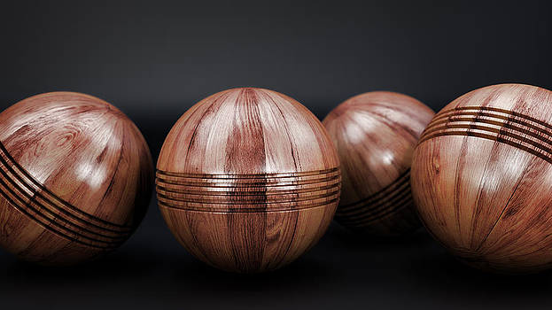Wooden Game Balls by Perry Harmon
