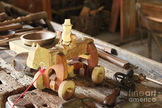 Wooden Horse - Toy by Jackie Mestrom