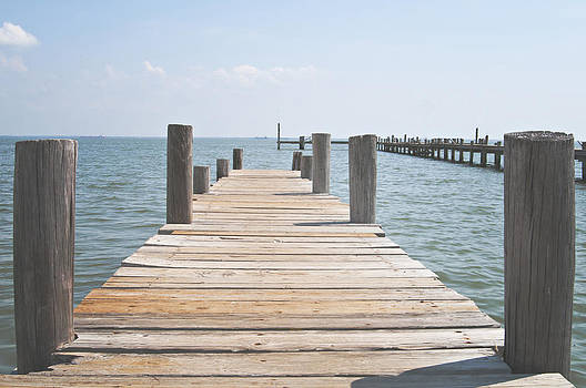 Angela Bonilla - Wooden Pier in Shoreacres Texas