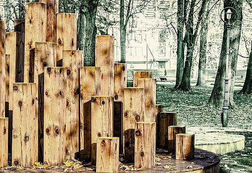 Wooden sclupture in the park. by Slavica Koceva