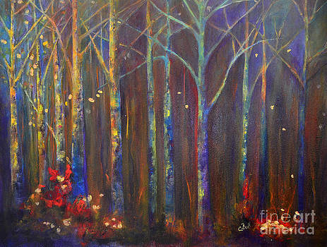 Woods in Autumn by Claire Bull