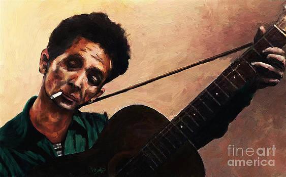 Woody Guthrie by Les Allsopp