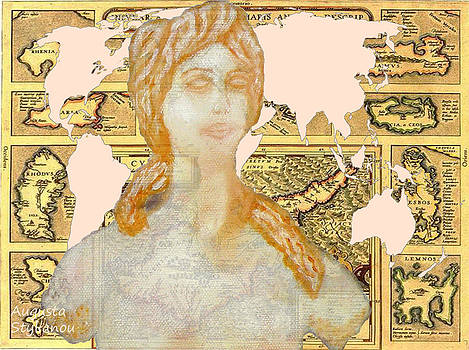 Augusta Stylianou - Word Map of Cyprus and Aphrodite