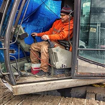 #work #construction #orange by Ron Greer