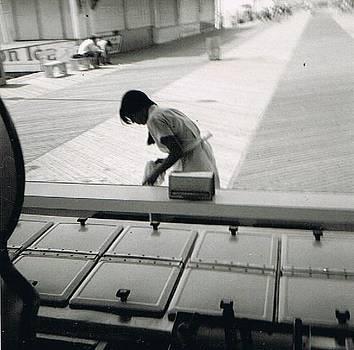 Working on the Boardwalk Seaside Heights NJ by Joann Renner