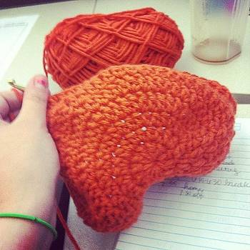 Working On This Beanie At Work. #crochet by Mary Wilkinson