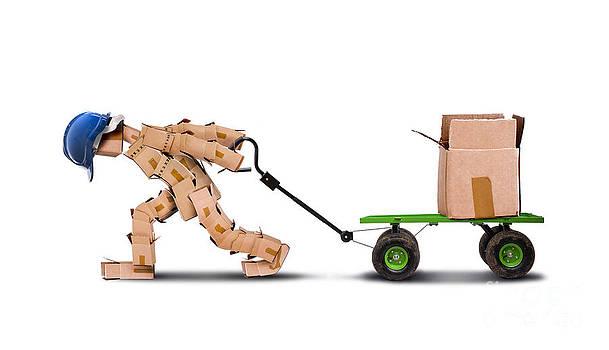 Simon Bratt Photography LRPS - Workman dragging large load