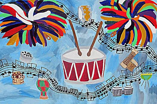World Drums by Diane Paulhamus