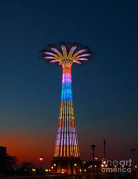 World Famous Parachute Jump In Coney Island Beach by Kendall Eutemey