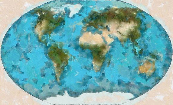 World Map Cartography by Georgi Dimitrov