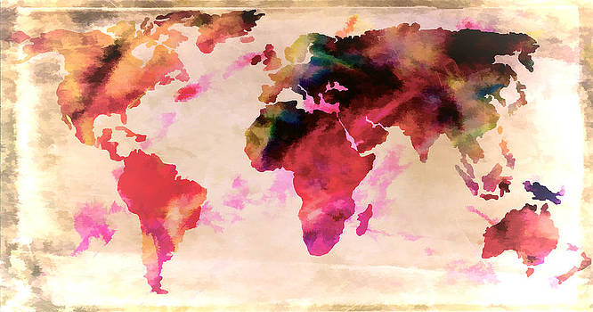 World Map Timid by Athena Mckinzie