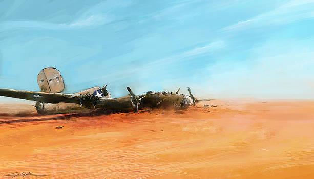 World War 2 Lady Be Good 'Lost in desert' by Ondrej Soukup