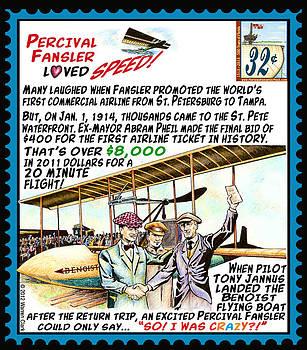 World's First Commercial Airline Flight by Warren Clark