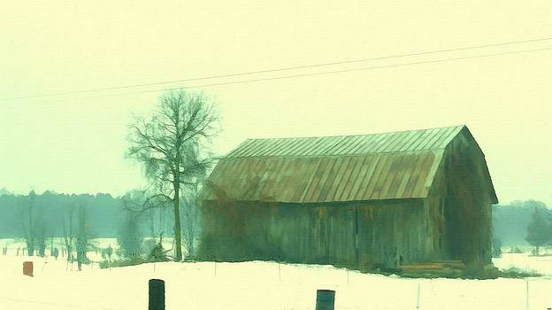 Rosemarie E Seppala - Worn Old Barn In Winter