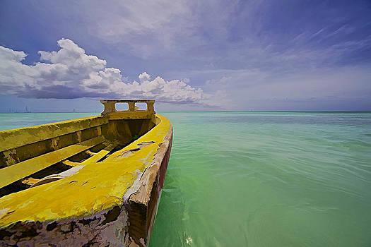 David Letts - Worn Yellow Fishing Boat of Aruba II