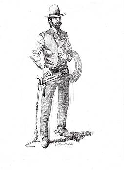 Wrangler circa 1880 by J W Kelly