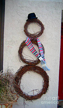 Wreath Made Snowman  by Lisa Jones