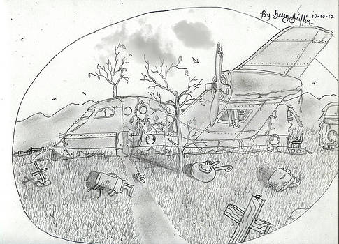 Wrecked Plane by Gerald Griffin