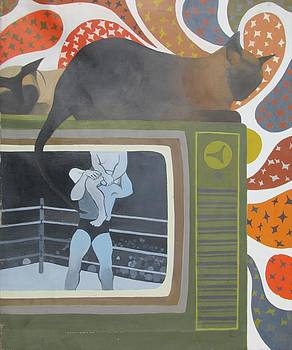 Wrestling Match by Janice Wetzel
