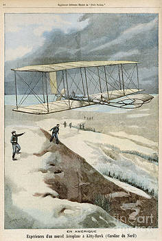 Mary Evans Picture Library - Wright Brothers At Kitty Hawk