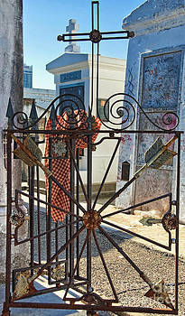 Kathleen K Parker - Wrought Iron Gate and Marie Laveau New Orleans