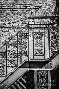 Ian Monk - Wrought Iron Staircase Key West - Black and White