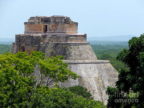 Xumal Pyramid Yucatan Mexico by Michael Hoard